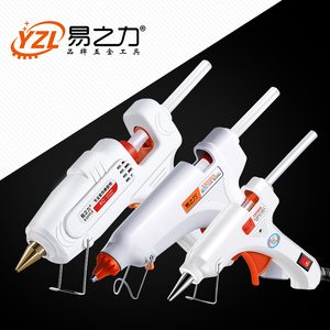 30W 80W 100W EU/ Plug Hot Melt Glue Gun 7mm Glue Stick Industrial Mini Guns Thermo Gluegun Heat Temperature Tool(China)