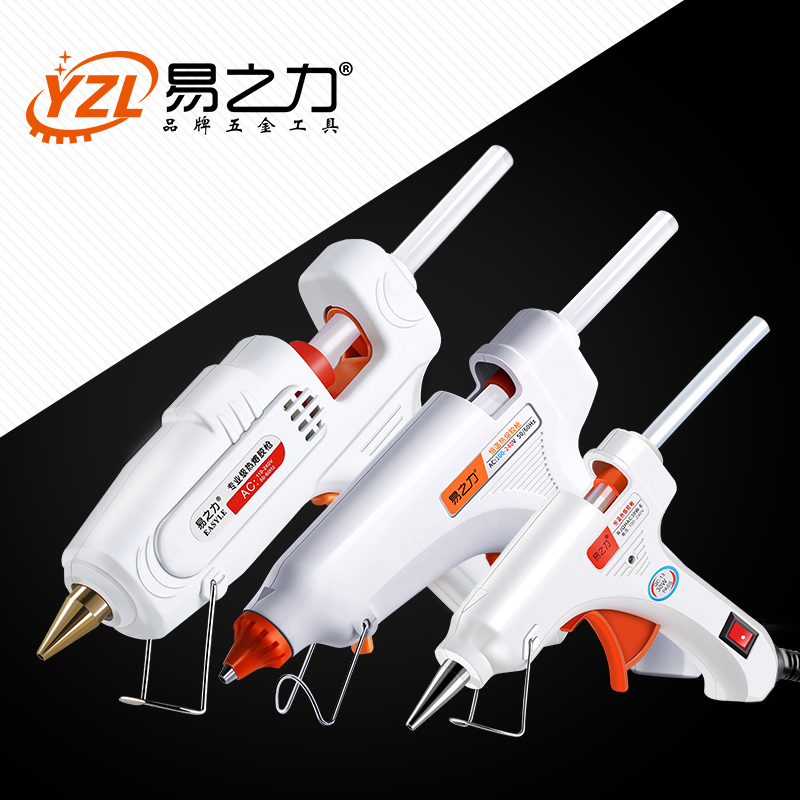 30W 80W 100W EU/ Plug Hot Melt Glue Gun with 20pcs 7mm Glue Stick Industrial Mini Guns Thermo Gluegun Heat Temperature Tool
