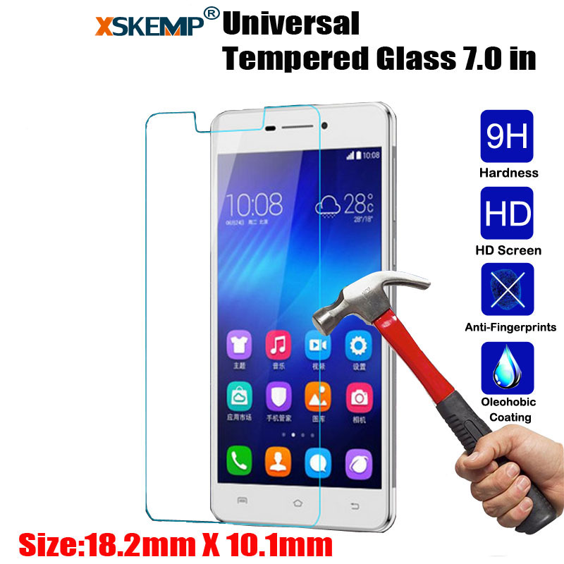 XSKEMP 9H Hardness Real Tempered Glass Universal For All 7.0 inch Tablet 0.3mm Ultra Thin Clear Screen Protector Protective Film
