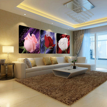 Painting flower Oil 3 piece Canvas Art Modern Red Roses home decoration living Wall decor Decorative pictures Print (no Frames) no red roses