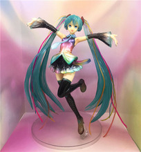 20cm Anime Hatsune Miku 10th Anniversary Costume Ver. Miku PVC 1/7 Action Figure Resin Collection Model цена