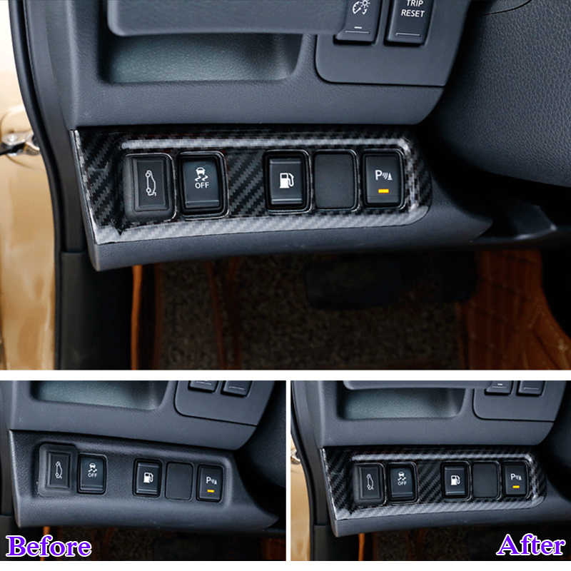 QCBXYYXH ABS Car Styling For Nissan Terra Navara NP300 2018-2019 Car  Headlight Switch Frame Sequins Internal Decoration Covers