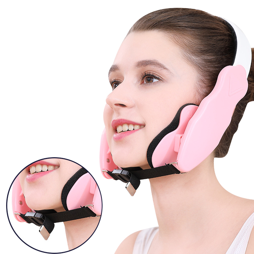 With Pads Double Chin Mandible Physical Shaping Face Lifting Device Mask Thin Facial Slimming Elastic Cheekbone Correction Belt(China)