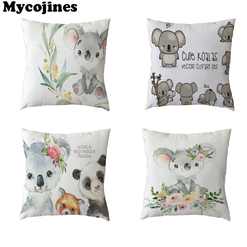 Promotional Cute Raccoon Polyester Peach Skin Pillowcase And friends Play Office Chair Car Sofa Home Decoration Cushion Cover image