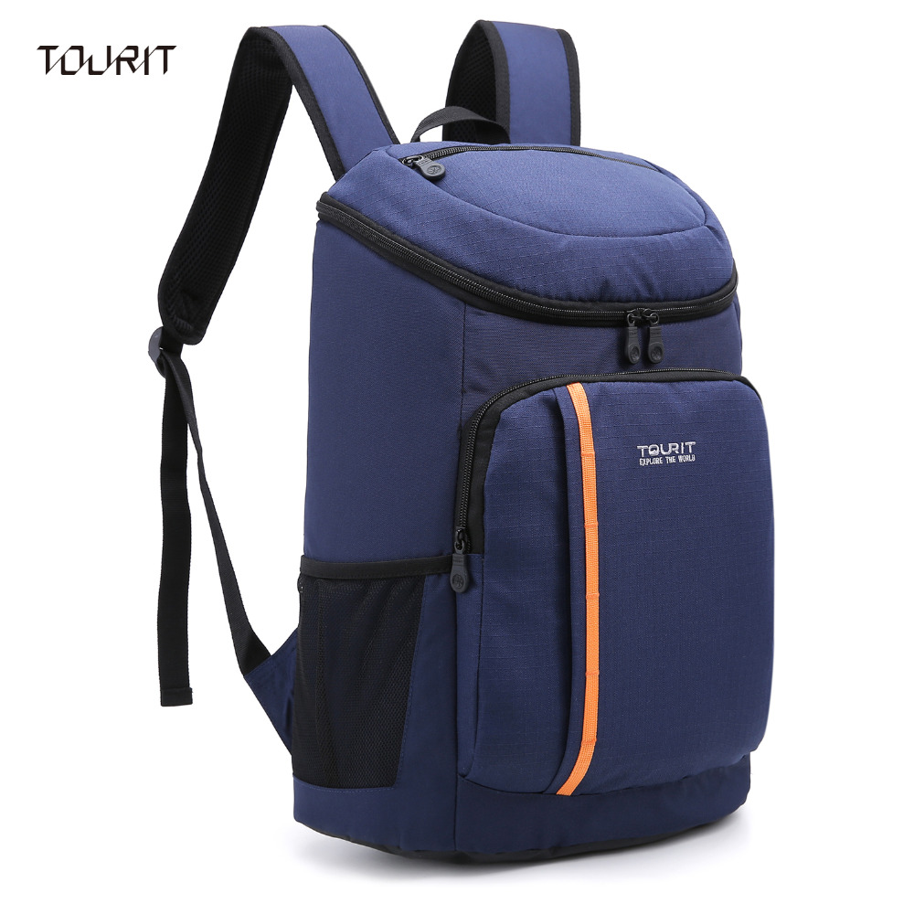 TOURIT Soft Backpack Cooler With Bottel Opener Waterproof Oxford Fabric 28 Cans-Black,Bl ...