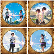 Anime Kimi No Na Wa Display Badge Japanese Cartoon Your Name Figure Tachibana Taki Miyamizu Mitsuha Brooch Pin Collections Gift