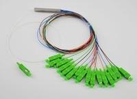 Free Shipping 5pcs/lot 0.9mm Steel Tube Fiber Optic PLC Splitter 1x16 SC/APC Mini Blockless 1*16 SC APC Connector