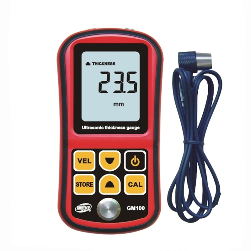 GM100 Digital Ultrasonic Thickness Meter Tester Gauge Velocity 1.2~225mm thickness gauge with retail box 0 001mm electronic thickness gauge 0 1mm digital thickness meter tester for paper film bc04