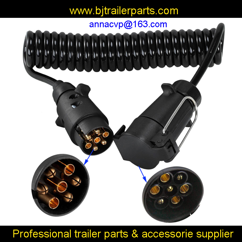 7pin Trailer Light Board Extension Cable Lead 3m Male To Female Trailer Truck Plug Socket Wire
