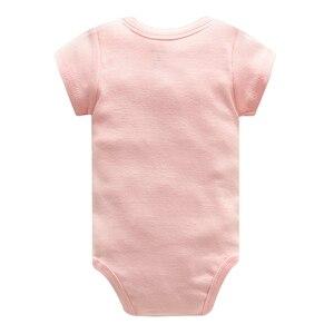Image 3 - Baby Jumpsuit Bodysuits Korte Mouw Katoen Leuke Print Romper 5Pcs Pasgeboren Baby Outfit Zomer Baby Jongens Kleding Set gewaad Bebe
