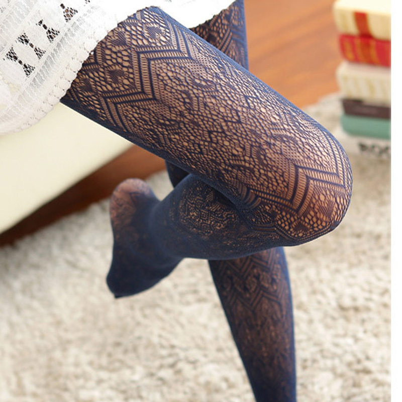 Japanese Lace Pantyhose Sexy Stockings Summer Autumn Hollow Tights Fishnet Stockings High Elastic Vintage Pantyhose for woman