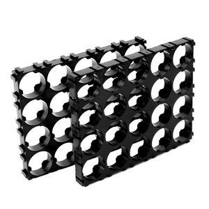 Image 3 - 10x 18650 Battery 4x5 Cell Spacer Radiating Shell Pack Plastic Heat Holder Black Drop Shipping Support