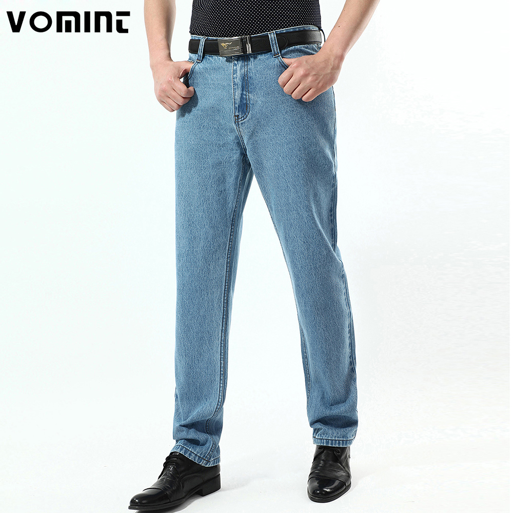 2017 New Mens Vintage Jeans Classic Denim Cotton Fabric 3 Color Light Wash Casual Business Trousers Pants Big Size 38 40 42