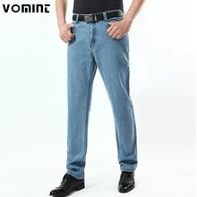 2020 novo dos homens do vintage jeans clássico denim tecido de algodão 3 cor luz lavagem casual calças de negócios tamanho grande 38 40 42