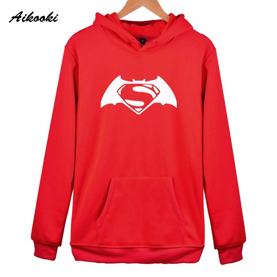 7b16c2be6fb Aikooki Fashion Batman Hoodies Sweatshirt Men Pullover Red Hooded Shirts  Famous Batman Male Cap Clothing Films Stars Coat Jumper