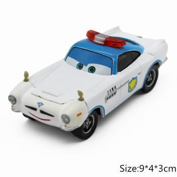 Disney Pixar Cars 3 2 Security Guard Finn McMissile Lightning McQueen Mater 1:55 Diecast Metal Alloy Model Car Kid Gift Boy Toy image
