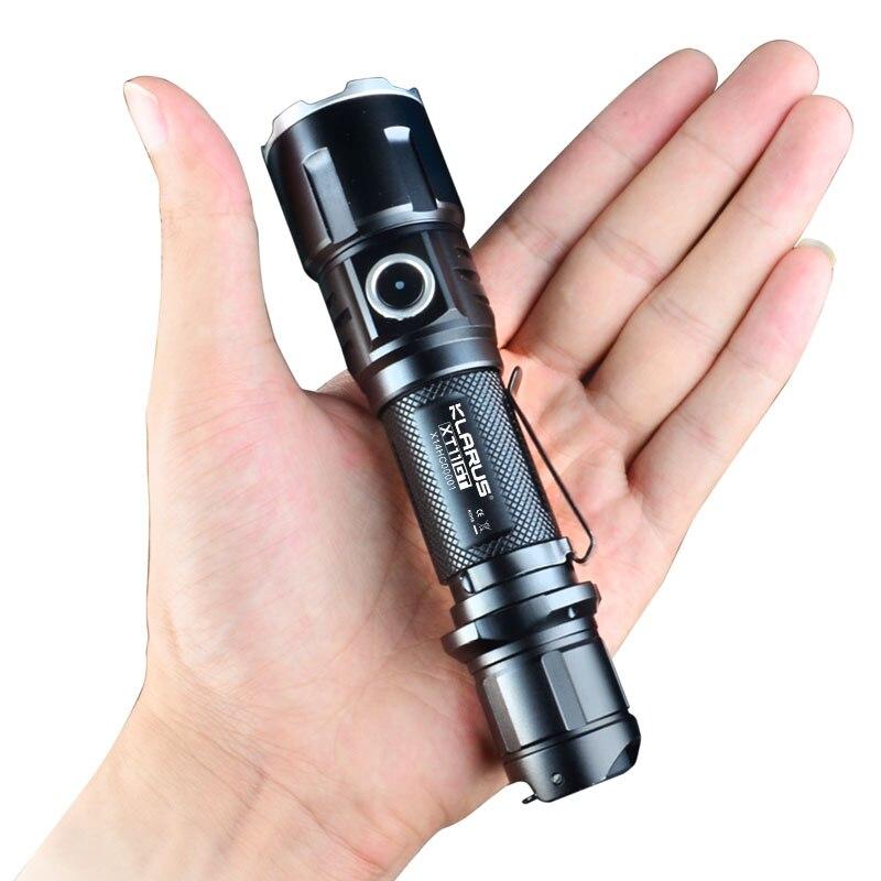 Новый KLARUS XT11GT CREE XHP35 HI D4 светодиодный тактический светодиодный фонарь 2000 лм 4 режима + Бесплатный USB порт и 18650 батарея для самообороны - 5
