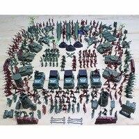 육군 남성 피규어 액세서리 키트 세트 307 개 군사 플라스틱 군인 모델 장난감 모델 액션 선물 장난감 소년