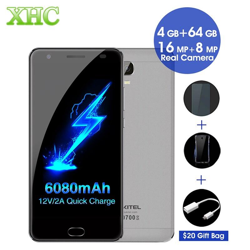 OUKITEL K6000 Plus 6080mAh Smartphone 5 5 inch Android 7 0 MTK6750T Octa Core Fingerprint 12V