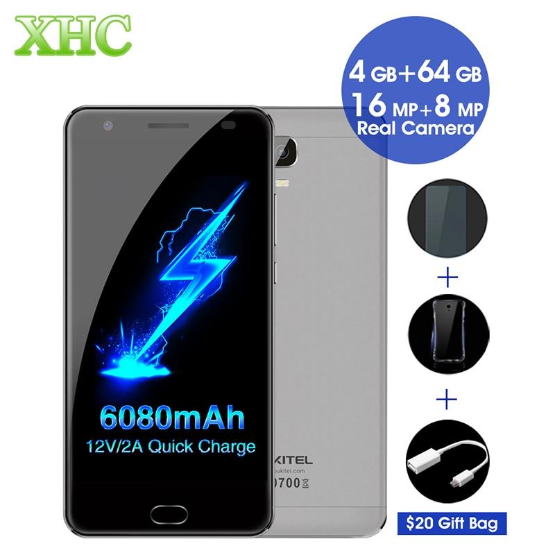 Цена за Oukitel k6000 плюс 6080 мАч octa ядро смартфон 5.5 дюймов android 7.0 mtk6750t отпечатков пальцев 12 v/2а быстрая зарядка 16mp мобильный телефон