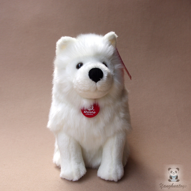 Stuffed Dogs Doll Toys For Children Birthday Gifts Real Life Plush Animals Samoyed Dolls High Quality