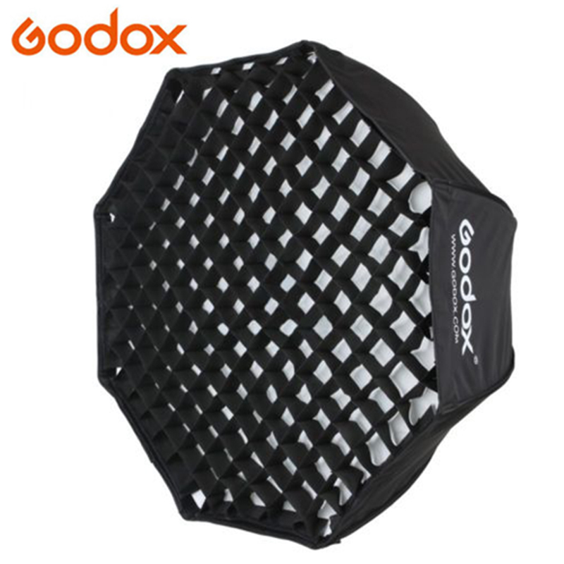 GODOX 80cm / 32 Portable Foldable Octagon Umbrella Softbox Photo Studio Flash Speedlite Diffuser Reflector with Honeycomb Grid high quality foldable 70cm photo studio beauty dish speedlite octabox softbox inner sliver or diffuser