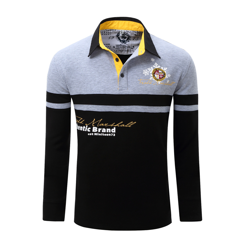 ZOGAA 2019 Best Selling Men Air Force One Long Sleeve Casual   Polo   Shirt Business Casual Striped Solid   Polo   for Men Clothing