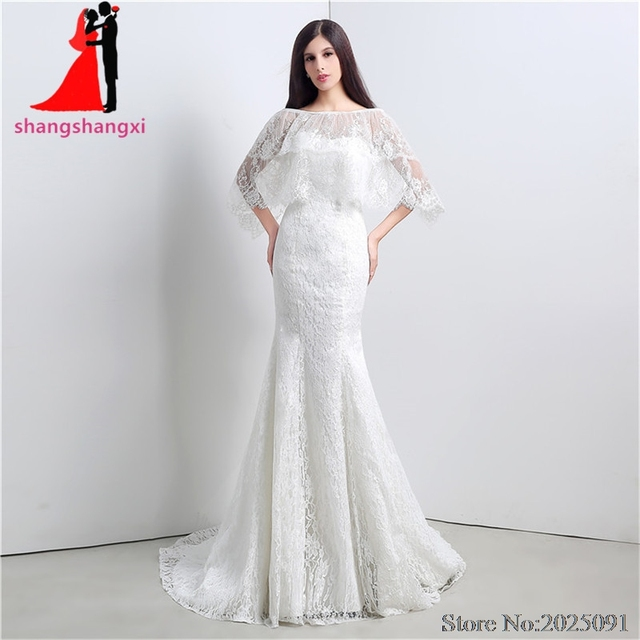 New white lace wedding dresses with shawl plus size wedding party new white lace wedding dresses with shawl plus size wedding party dress bridal gown vestido de junglespirit Gallery