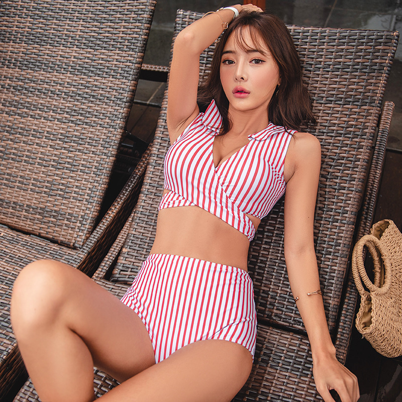 Swimsuit Separate Swimsuits Bikini Girls Tankini For Women 2 Piece Luxury Yilu 2009 Korean Pink Stripes Push Uping Slender Sexy