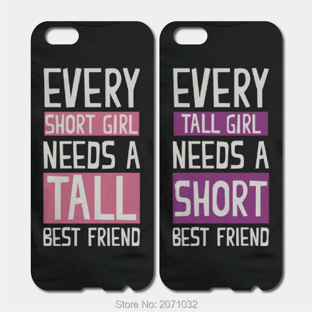huge discount f6de1 11a45 US $5.87 11% OFF|For iPhone 6S 6 7 Plus SE 5S 5C 4S iPod Touch 6 5 For  Samsung Galaxy S7 S6 Edge Hard PC Cute Matching BFF Best Friend Phone Case  on ...