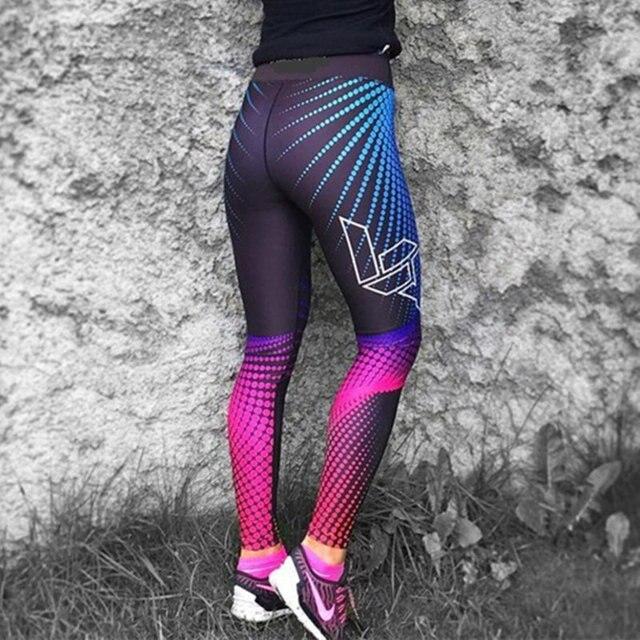 Women Yoga Pants 3D Print Compression Elasticity Fitness Sports Leggings 4