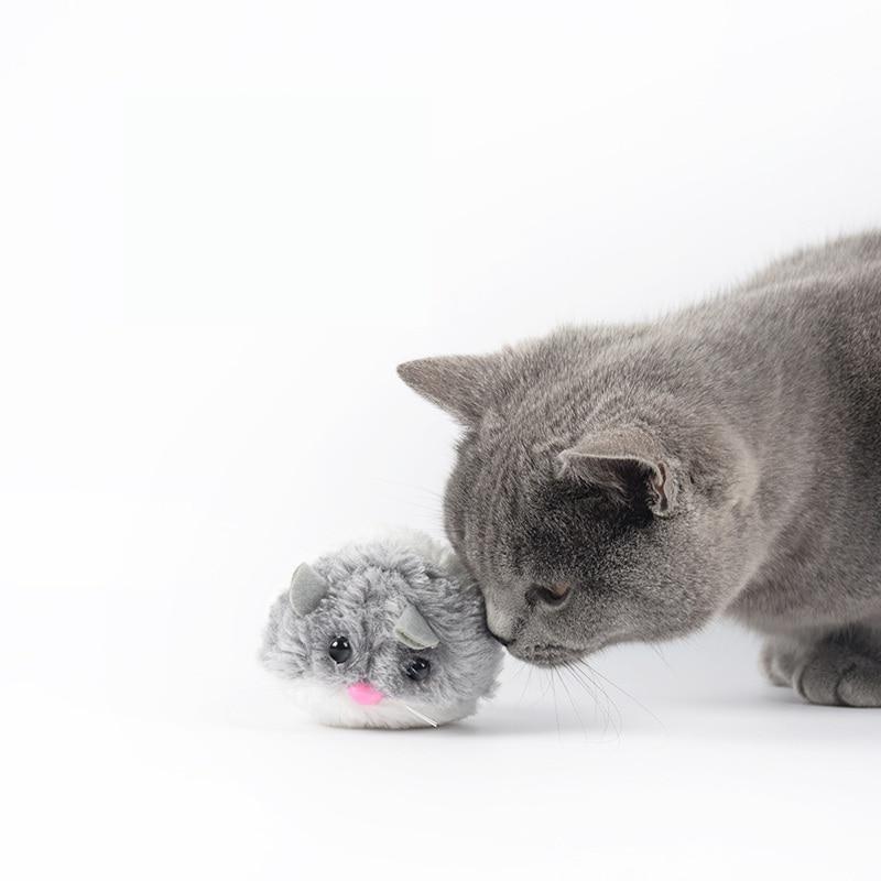 Kitten Velvet Shaking Pet Cat Toys Interactive Creative Cats Toy Rat Artificial Fur No Need Batteries Pets Cat Supplies