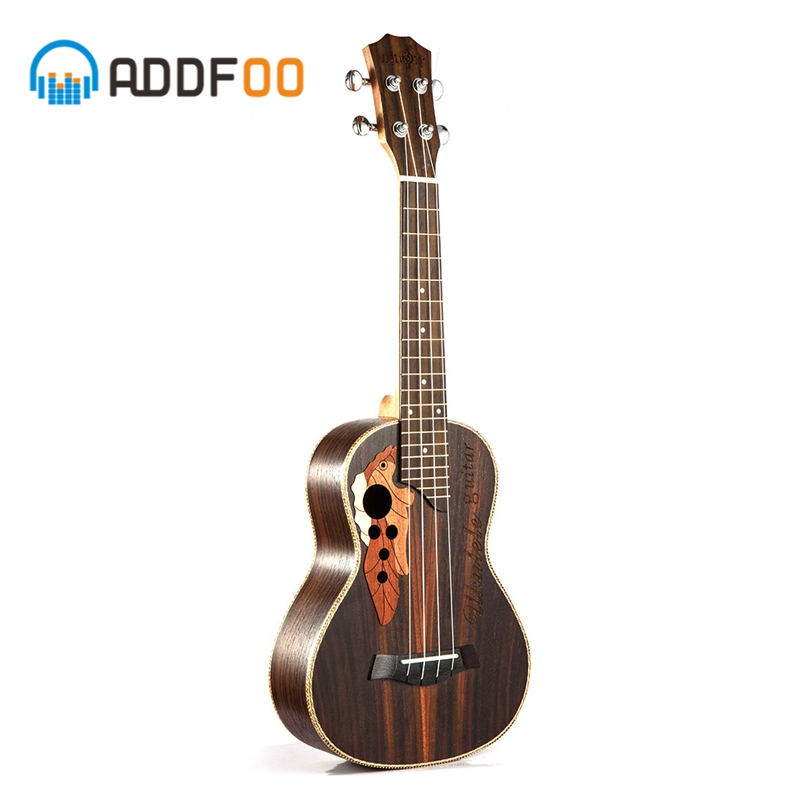 ADDFOO 23 pouces ukulélé 4 cordes Mini Hawaii guitare palissandre corps Uku Ukelele Soprano Concert Instruments de musique pour débutant