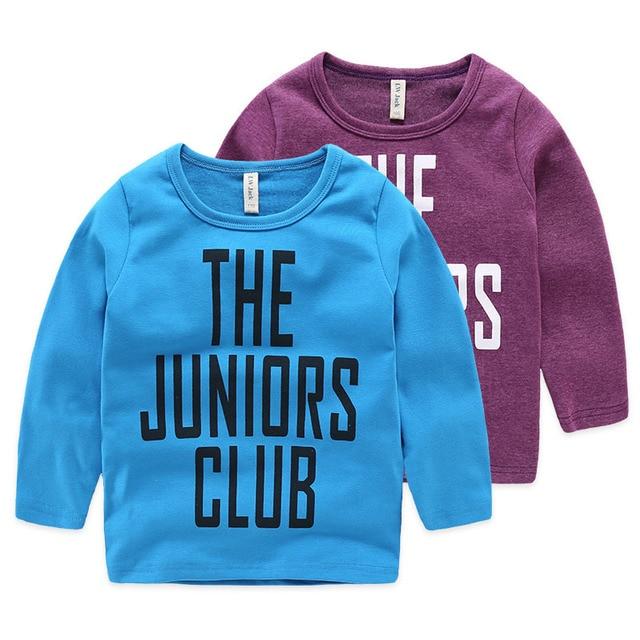 Boy Children T Shirts Long Sleeve Boys TShirts Spring Autumn Kids Boys Children T-Shirts Kids Tops Letters Printed Casual Tees