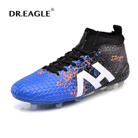 DR.EAGLE high ankle football boots soccer shoes with ankle sock original soccer cleats superfly for AG/FG 39 44