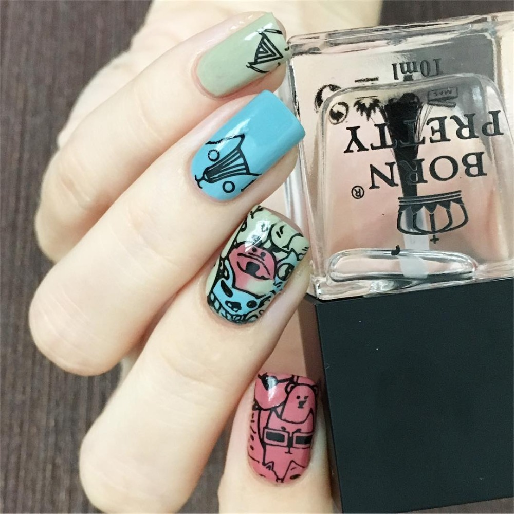Born Pretty 10ml No Smudge Top Coat Oil For Nail Art Stamping Printed Care Insulating Manicure In Polish From Beauty Health On Aliexpress