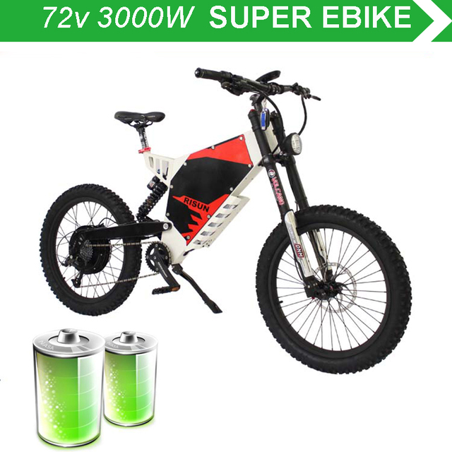 72v 3000w Electric Mountain Bike Front And Rear Damping Soft Tail