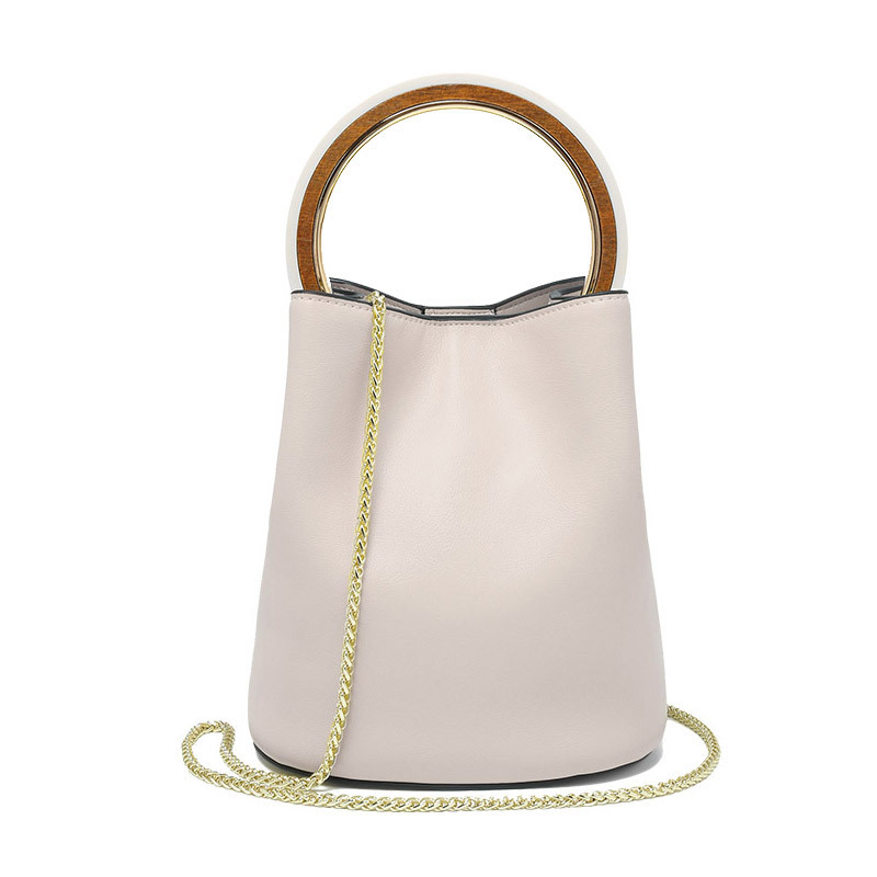 Fashion Ring Composite Hand Bag Night party bucket bag Transparent Beach Bag with Glitter purse inside Day Chain Shoulder Bag824