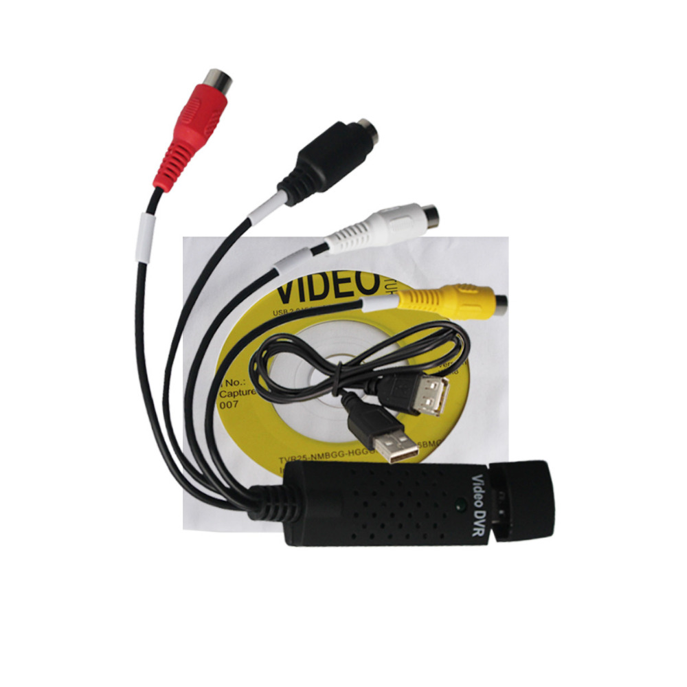 Nueva alta calidad USB 2,0 Easycap captura 4 canales Video TV DVD VHS Audio Captura adaptador tarjeta TV Video DVR envío gratis