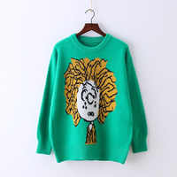 2018 Limited Jumper Women Sweaters And Pullovers Autumn And Winter New Pattern Pullover Woman Long Sleeve Lovely A Doll Sweater