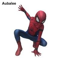 New Kids Boys Spider Man Homecoming Costume Children Spiderman Spandex Zentai Suit Superhero Cosplay Halloween Christmas