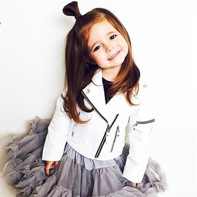 f6204fc9d INS primavera niños chaqueta pu cuero Niñas Chaquetas ropa niños Outwear para  bebé Niñas Moda hombre