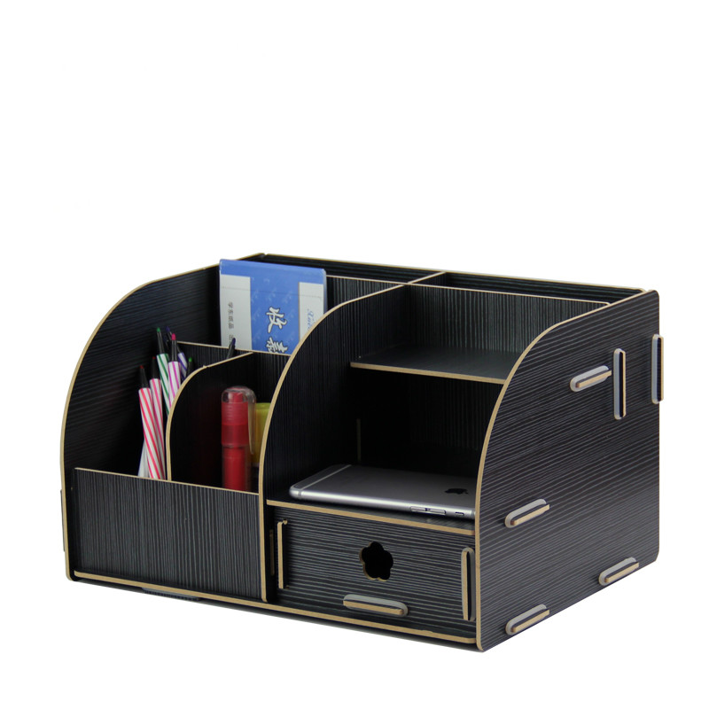 Free shipping holder for office large wood office supplies desktop sundries drawer rack boxFree shipping holder for office large wood office supplies desktop sundries drawer rack box