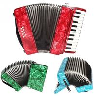 IRIN 3Colors Professional Maple Wood 22 Key 8 Bass Piano Accordion Keyboard Musical Instrument Best Gift for Beginners