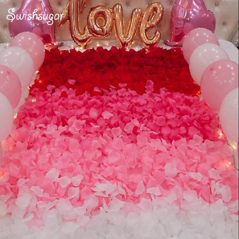 100pcs Many Colors Artificial Dried Flower Petals Leaves Party Event Wedding Supplies Favor