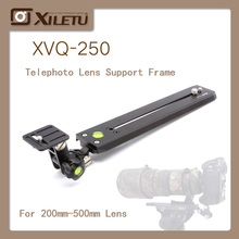 XILETU XVQ-250 Long-focus Lens Bracket Adapter Tripod Monopods For 200mm-500mm Interface Screw 1/4-3/8 inch