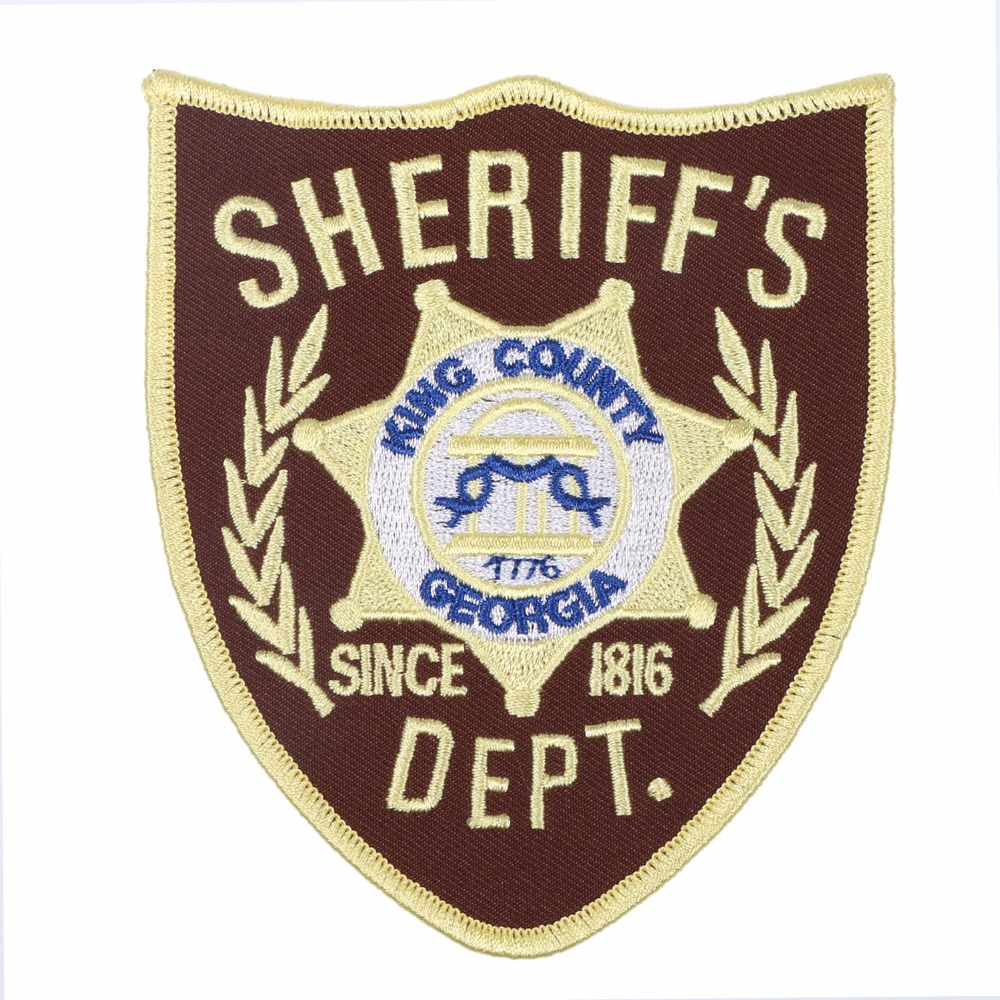 THE WALKING DEAD KING COUNTRY SHERIFF DEPT. PATCH SHOULDER BADGE