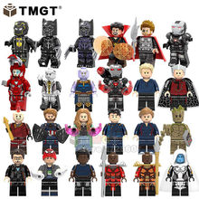 Single Sale Super Heroes Supergiant Spiderman Pepper Ayo Iron Man Bricks Collection Building Blocks Children Gift Toys(China)