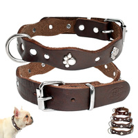 soft-genuine-leather-pet-dog-collars-adjustable-for-small-medium-dogs-puppy-chihuahua-pitbull-collar-brown-xxs-xs-s-m