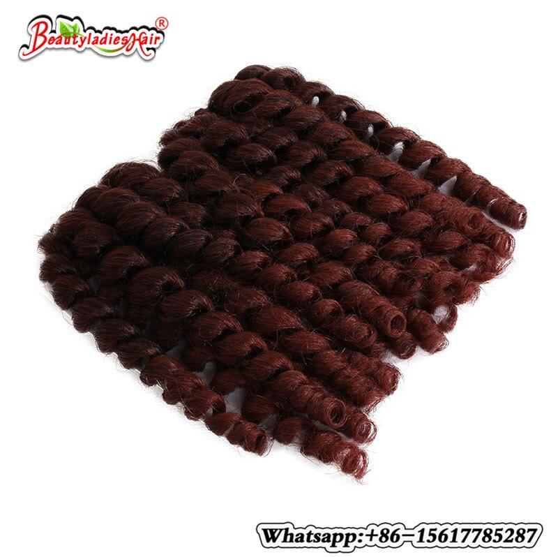 Crochet Braid Extensions Afro Twist Synthetic Hair Bundles, Short Jamaican Bounce Crochet Hair Jumpy Wand Curl 4Pcs
